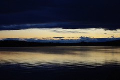 Dusk On Lake Champlain (Listeral Mac) Tags: grandisle vt vermont dusk sunset dark cloud sun lakechamplain lake champlain reflection water ripple wave