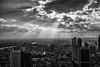 Frankfurt Skyline (mirko.borgmann) Tags: skyline frankfurt black white sunlights clouds sun licht topf25 2549 faves