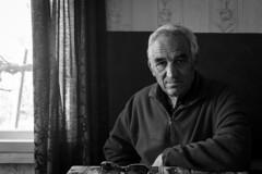 My grandfather (dragonllabroe) Tags: portrait man old grandpa grandfather black white blackandwhite monochrome home village inside retro vintage rural