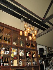 I've seen the light! (Julie (thanks for 8 million views)) Tags: 117picturesin2017 2017onephotoeachday canonixus170 thelocal pub lights bar beams wexford alcohol bottles optics indoor