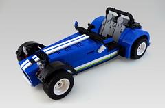 Caterham mod (Sylon-tw) Tags: sylon sylontw lego mod modfication caterham seven 620r blue 21307 ideas white