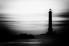 Black and white (Filip42) Tags: cote cotentin phare plage couchédesoleil blackandwhite bw lighthouse beach france