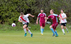 Alan Frizzell picks up the ball on the edge of his own box (Stevie Doogan) Tags: clydebank cumbernauld utd mcbookiecom west scotland league superleague first division holm park saturday 15th april 2017 bankies scottish juniors