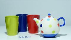 Tea time (judith511) Tags: flickrlounge weeklytheme ruleofodds teapot three mugs