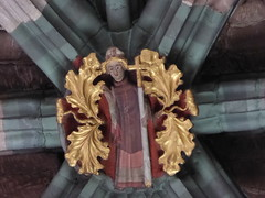 Bishop amidst Foliage (Aidan McRae Thomson) Tags: worcester cathedral worcestershire medieval roofboss bosses carving