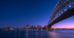 Sun down lights out (lionpool) Tags: milsons point milsonspoint sydney city australia nsw sunset cityscape wideangle