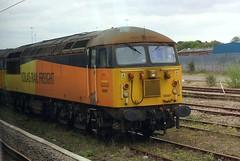 Through the Window (Chris Baines) Tags: colas class 56 locos parkeston essex ga 360 emu 56087 56078