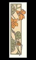 Garden nasturtium (Japanese Flower and Bird Art) Tags: flower garden nasturtium tropaeolum majus tropaeolaceae yoshiko yamamoto modern woodblock print japan japanese art readercollection