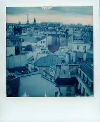Paris in blue. (J-Pierre.Pola) Tags: paris eiffeltower polaroid spring2017roidweek impossibleproject polaroidslr680