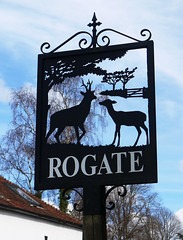 Rogate Village Sign (Louise and Colin) Tags: uk england english metal sussex iron village westsussex britain cottage eu deer british ironwork weald villagesign rogate sussexweald louiseenglish