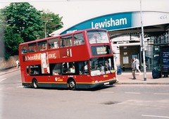 LONDON CENTRAL PVL11 V311LGC LEWISHAM 130501 (David Beardmore) Tags: bus volvo president doubledeckerbus pvl plaxton londoncentral b7tl lowfloorbus v311lgc pvl11 dualdoorbus