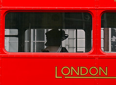 Hat on a Routemaster (Reinardina) Tags: wedding red england urban bus london hat streetscene hampshire routemaster guest southampton publictransport doubledecker londontransport privatetransport