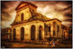 Church, Trinidad de Cuba (Descended from Ding the Devil) Tags: texture church cuba iglesia hdr lightroom ghostbones trinidaddecuba pseudohdr singleraw colorefexpro fhdr skeletalmess 1785kitlens hdrefexpro