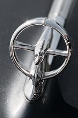 B&W LA Car Emblem 3-0 F LR 4-9-14 J097 (sunspotimages) Tags: car emblem logo automobile misc losangeles4914