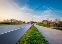 Leading lines (Jonathan Tasler) Tags: sunset lines guard rail leading