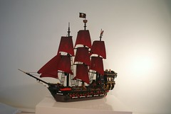 Lego Pirates MOC  Brickbeard's Shadow of the 7 Seas - v2 (Hannibal Joost) Tags: fountain volcano waterfall ship lego pirates pirate cascade moc