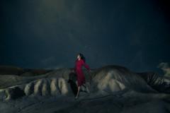 Enigma (Thomas Lim Photography) Tags: red portrait orange colour night stars landscape model dress teal flash assignment surreal levitation astrophotography portraiture graded rmit heathcote