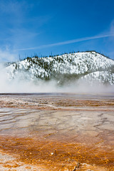 Bacteria ground (AmaurieRaz) Tags: hot color canon landscape photography nationalpark spring awesome best steam yellowstone tamron edit photooftheday grandprismaticspring 2470mm tamronlens canonphotography colorefexpro lightroom5