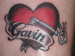 Key With Heart Name Tattoo Design 179 (tattoos_addict) Tags: tattoo design key with heart name 179 hearttattoos