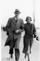 STREET PHOTOGRAPHER (JOHN MORGANs OLD PHOTOS.) Tags: street uk 1920s bw white black walking 1930s seaside interesting uniform different photographer unitedkingdom and unusual
