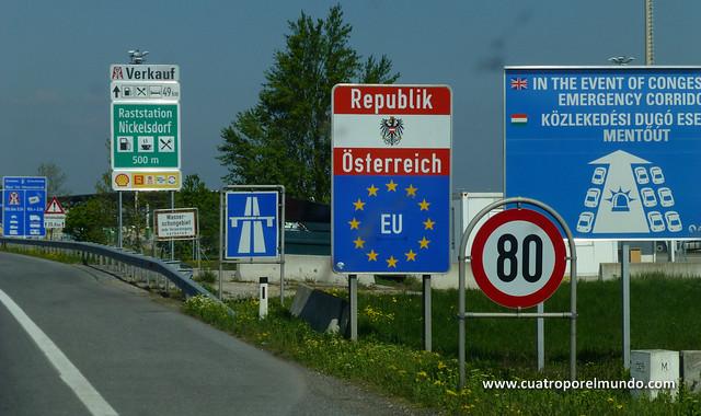 Pasando la frontera austriaca