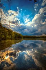Clouds in the lake (radonracer) Tags: lake deutschland see nrw niederrhein waldsee sonnenlicht geldern boeckelt