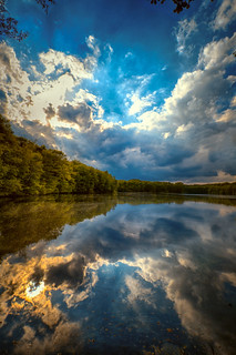 Clouds in the lake