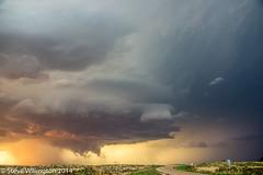 Englewood supercell at sunset (Steve Willington) Tags: sunset storm unitedstates kansas englewood extremeweather supercell cloudsstormssunsetssunrises 1stjune2014