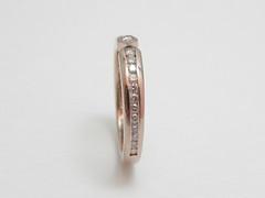 チャネル・セッティング・リング   Channel Set Diamonds  Eternity ring (jewelrycraft.kokura) Tags: diamond 指輪 pinkgold k18 channelset ピンクゴールド ダイヤ k18 ハーフエタニティリング チャネルセッティング