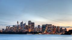 Sydney Skyline (Mqrko_) Tags: ocean longexposure autumn sunset fall landscape coast dusk sydney australia nsw coastline seashore hdr landscapephotography cremornepoint
