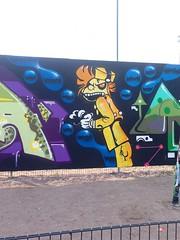 Arabian katufestivaalien 2014 aikana maalattiin myös katutaideaidalla