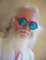 Stranger #47 - Paddy (shents01) Tags: blue musician white rock newcastle beard glasses king durham paddy linen famous band prefab suit singer roll lead sprout 47 mcaloon
