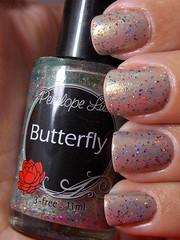 Ouro Nude - Risqué + Butterfly - Penélope Luz (Natalia Breda) Tags: glitter nude esmaltenacional penélopeluz indiepolish esmaltedasamigas