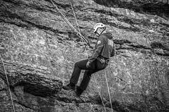 Cliff rescue techniques - Trevor Rocks, Llangollen