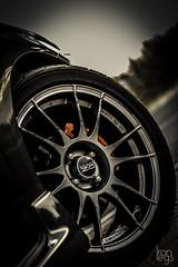 Red brake (Ironlegs Photography) Tags: red car wheel photography golden oz automotive hour toyota brake destroyed corolla ultraleggeras