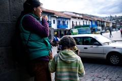 Mother & Daughter (alisdair jones) Tags: street leica woman peru girl 35mm child traffic cusco daughter mother m summilux 240 fle