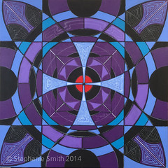 "IMG_0636 (Stephanie ""Biffybeans"" Smith) Tags: blue red art painting artist purple geometry vibrant modernart mandala selftaught sacred meditation spirituality psychedelic lehighvalley visionary stephaniesmith transformational sacredart sacredgeometry visionaryartist personalgrowth bananafactory biffybeans"