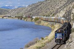 Six in Trident (MRL 390) Tags: railroad mountain train river montana freight mrl missouririver trident freighttrain sd45 sd452 montanaraillink manifestfreight emdsd45 tridentmontana mrl2ndsubdivision mrlsd45 montanaraillink2ndsubdivision mrl382