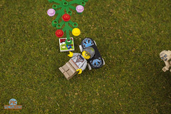 Resting after a long trip (Peter von Kappel) Tags: flowers tree lego 4 relaxing lotr skateboard skater minifig hobbit laying minifigure streetskater legocity series4 legominifigures