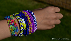 Colourful Loom Bands (Photography by Karl Watson) Tags: colour hand arm bands colourful striking loom loombands