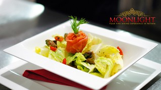 Caesar Salad with Smoke Salmon in the best Pattaya restaurants