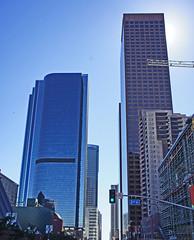 LA's Towering Skyline Los Angeles California (dog97209) Tags: california las skyline los angeles sunny september towering