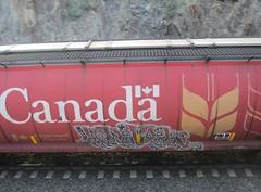 KLEVER (YardJock) Tags: railroad graffiti spraypaint piece hopper freighttrain rollingstock benching boxcarart benchreport