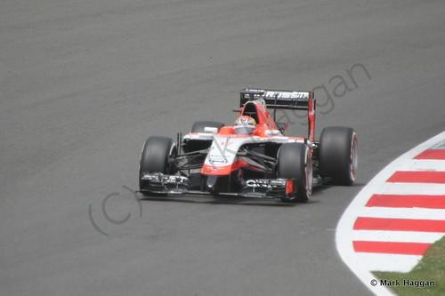 Jules Bianchi in The 2014 British Grand Prix