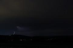 DSC_6736 (benekliz) Tags: longexposure sky storm nature weather night clouds lowlight bolt strike lightning lightningbolt meteorology