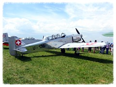 Pilatus P2.06 1949 (v8dub) Tags: plane schweiz switzerland airport suisse d meeting pilatus fribourg 06 freiburg flugzeug 1949 avion p2 aroport arodrome cuvillens