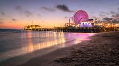 Final Santa Monica Pier Sunset (kwmorales) Tags: sunset clouds pier santamonica