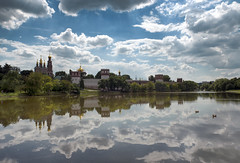Mirror (Varvara_R) Tags: summer sky lake church sunshine architecture clouds reflections landscape russia moscow nikond800