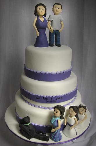Family affair Wedding Cake med