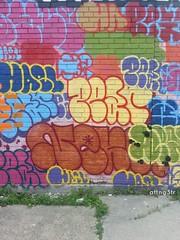 Throwies... (graff_g3tr) Tags: graffiti al detroit otr pear msk d30 nekst btm wyse begr hael haeler wge n4n flickrandroidapp:filter=none